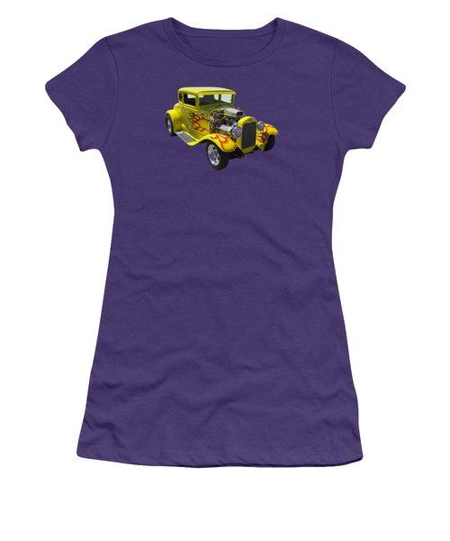 1930 Model A Custom Hot Rod Women's T-Shirt (Junior Cut) by Keith Webber Jr