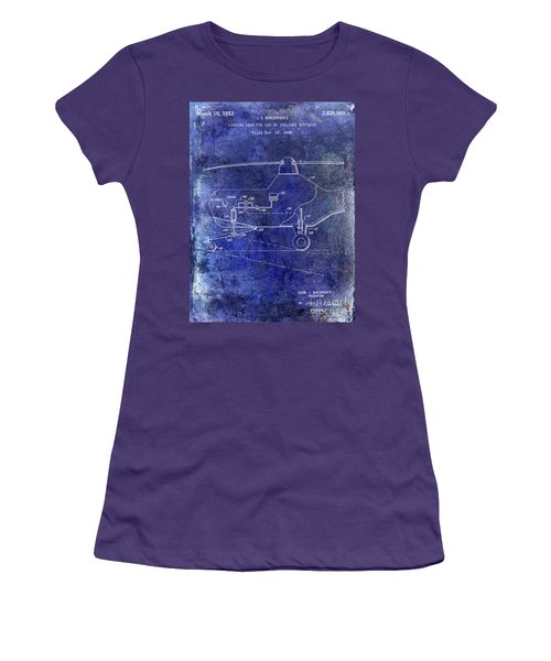1953 Helicopter Patent Blue Women's T-Shirt (Athletic Fit)