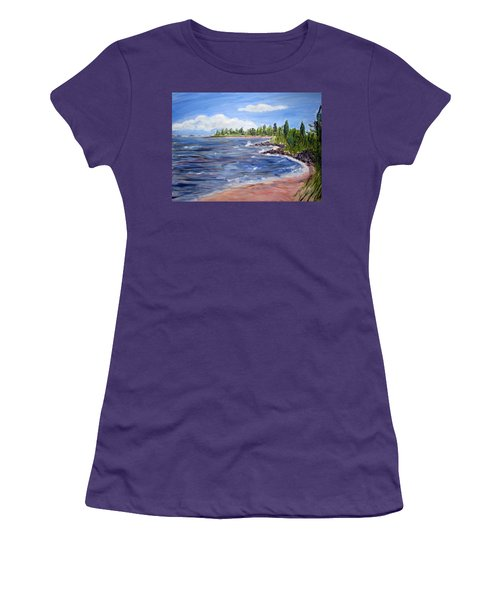 Trixies Cove Women's T-Shirt (Junior Cut) by Clara Sue Beym