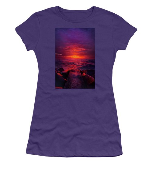Women's T-Shirt (Junior Cut) featuring the photograph The Path by Phil Koch