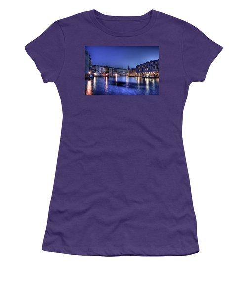 Venice By Night Women's T-Shirt (Junior Cut) by Andrea Barbieri