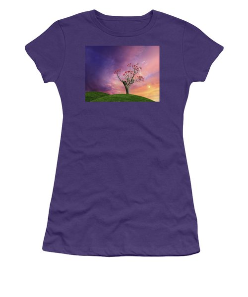 Women's T-Shirt (Athletic Fit) featuring the photograph 4451 by Peter Holme III