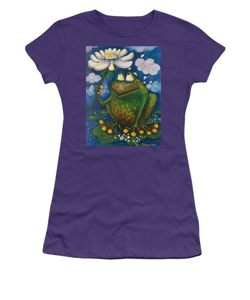 Frog In The Rain Women's T-Shirt (Athletic Fit)