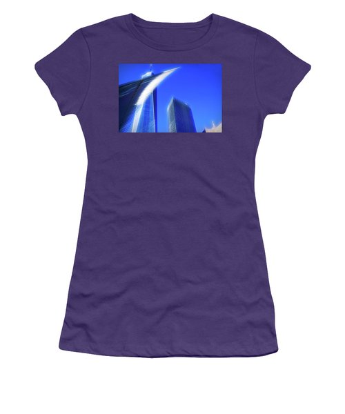 A Glimpse Of The Oculus - New York's Financial District Women's T-Shirt (Athletic Fit)