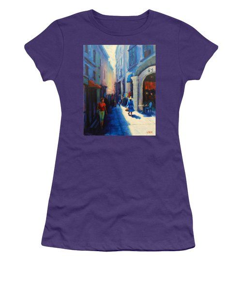 A Lady From Cajamarca In The City, Peru Impression Women's T-Shirt (Athletic Fit)