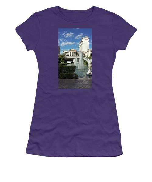 Women's T-Shirt (Athletic Fit) featuring the photograph A Vegas Icon by Aaron Martens