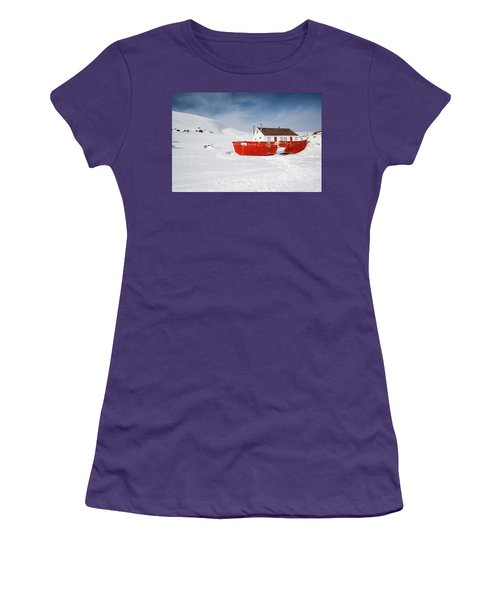 Abandoned Fishing Boat Women's T-Shirt (Junior Cut) by Nick Mares
