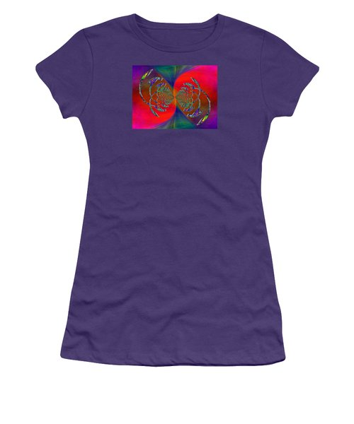 Women's T-Shirt (Junior Cut) featuring the digital art Abstract Cubed 366 by Tim Allen