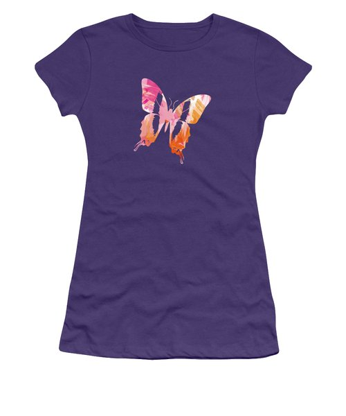 Abstract Paint Pattern Women's T-Shirt (Athletic Fit)