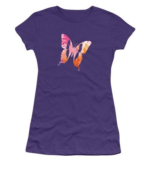 Abstract Paint Pattern Women's T-Shirt (Junior Cut)
