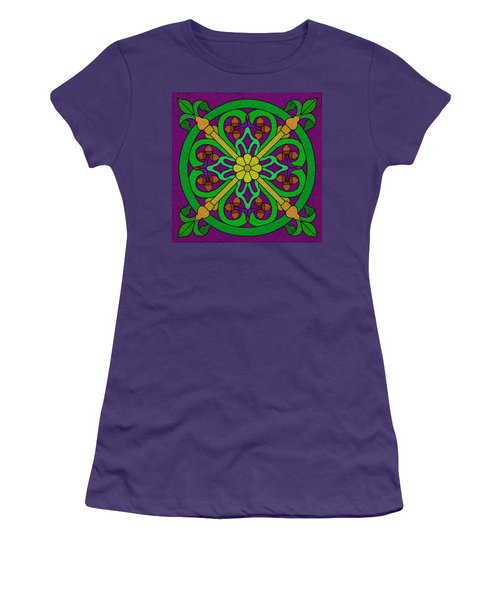 Acorn On Dark Purple Women's T-Shirt (Athletic Fit)