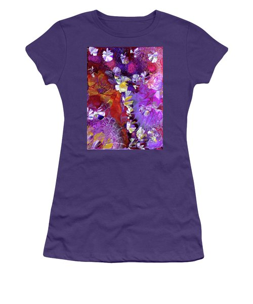 African Violet Awake #5 Women's T-Shirt (Athletic Fit)