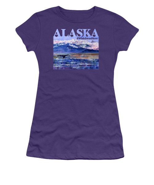 Alaskan Landscape On Water Shirt Women's T-Shirt (Athletic Fit)