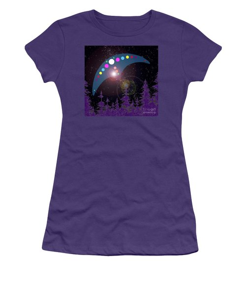 Women's T-Shirt (Junior Cut) featuring the painting Alien Skies by James Williamson