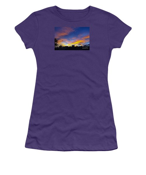 Andalusian Sunset Women's T-Shirt (Junior Cut) by Perry Van Munster