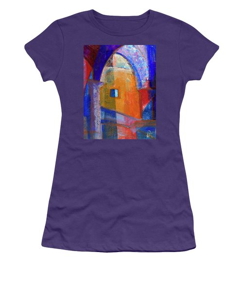 Women's T-Shirt (Junior Cut) featuring the painting Arches And Window by Walter Fahmy