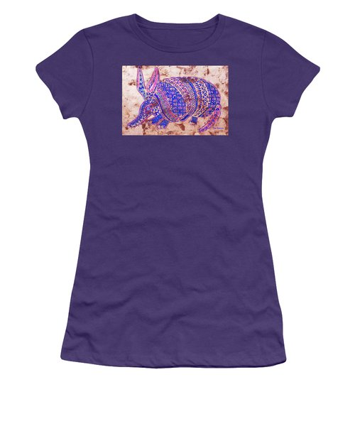 Women's T-Shirt (Junior Cut) featuring the painting Armadillo by J- J- Espinoza