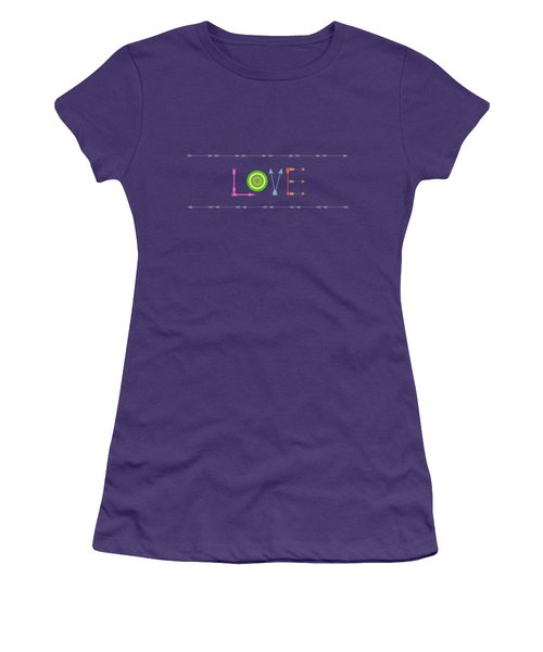 Arrow Love - Changeable Background Color Women's T-Shirt (Junior Cut) by Inspired Arts