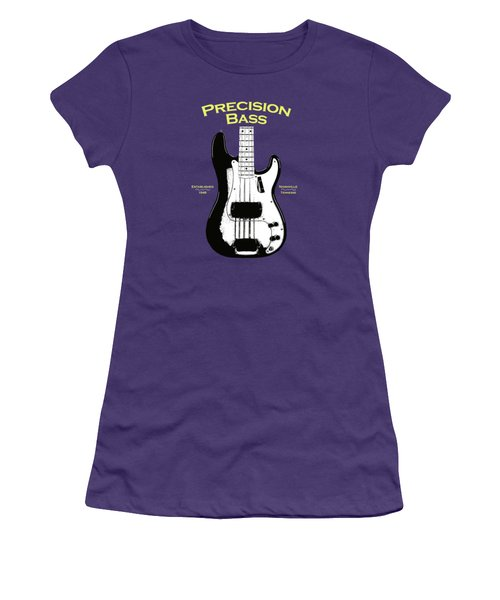 Fender Precision Bass 58 Women's T-Shirt (Junior Cut) by Mark Rogan