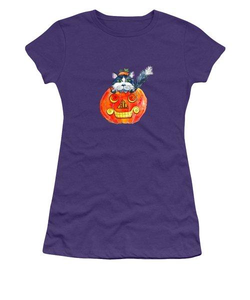Boo Women's T-Shirt (Junior Cut) by Shelley Wallace Ylst