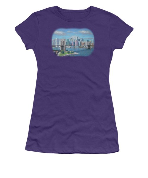 New York Brooklyn Bridge Women's T-Shirt (Athletic Fit)