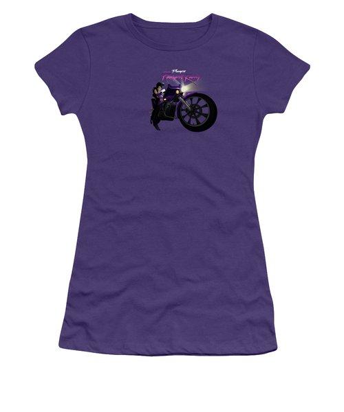 I Grew Up With Purplerain Women's T-Shirt (Junior Cut) by Nelson dedos Garcia