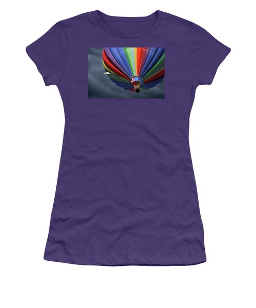 Women's T-Shirt (Junior Cut) featuring the photograph Ascending To The Storm by Marie Leslie