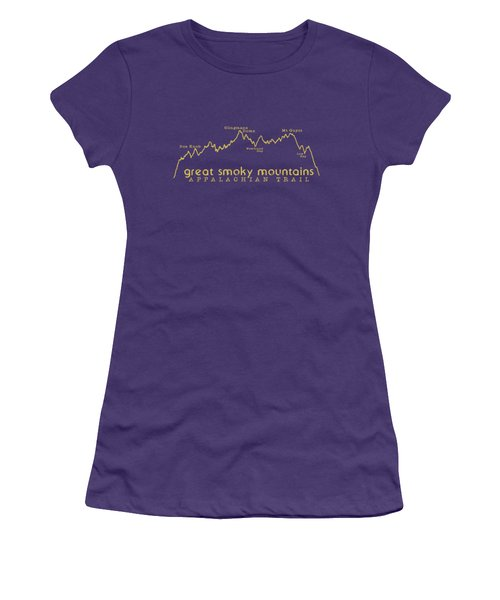 At Elevation Profile Gsm Mustard Women's T-Shirt (Junior Cut) by Heather Applegate