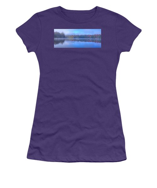 Women's T-Shirt (Athletic Fit) featuring the photograph Autumn Fog Lifting by David Patterson