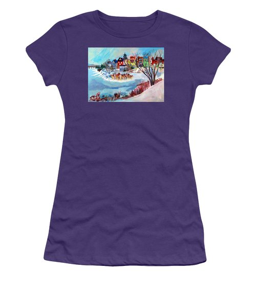 Backside Of Schenectady Stockade In February Women's T-Shirt (Athletic Fit)