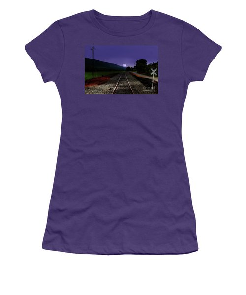 Bad Moon Rising Women's T-Shirt (Athletic Fit)