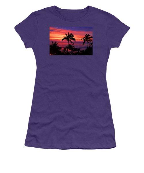 Beautiful Hawaiian Sunset Women's T-Shirt (Junior Cut) by Michael Rucker