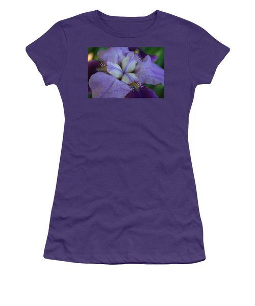 Women's T-Shirt (Junior Cut) featuring the digital art Blooming Iris by Barbara S Nickerson