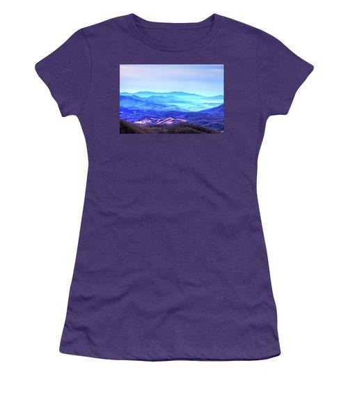 Blue Mountain Mist Women's T-Shirt (Junior Cut) by Dale R Carlson