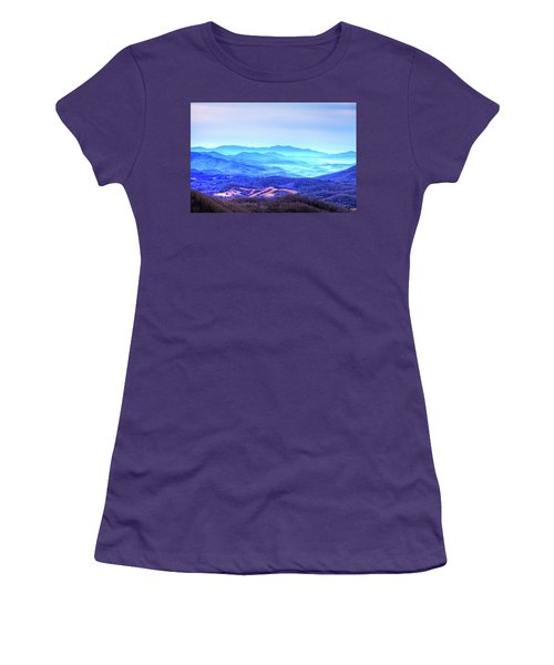 Blue Mountain Mist Women's T-Shirt (Athletic Fit)