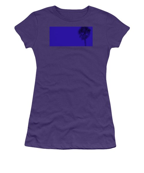 Blue Palm Women's T-Shirt (Athletic Fit)
