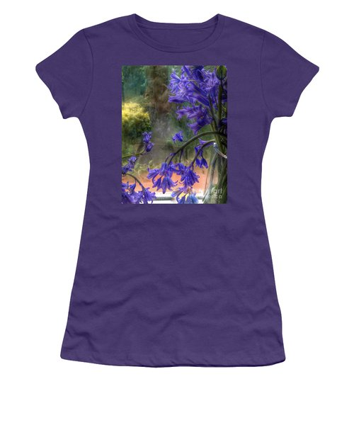 Bluebells In My Garden Window Women's T-Shirt (Athletic Fit)