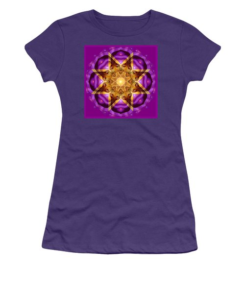 Women's T-Shirt (Junior Cut) featuring the painting Buddha Mandala by Sue Halstenberg