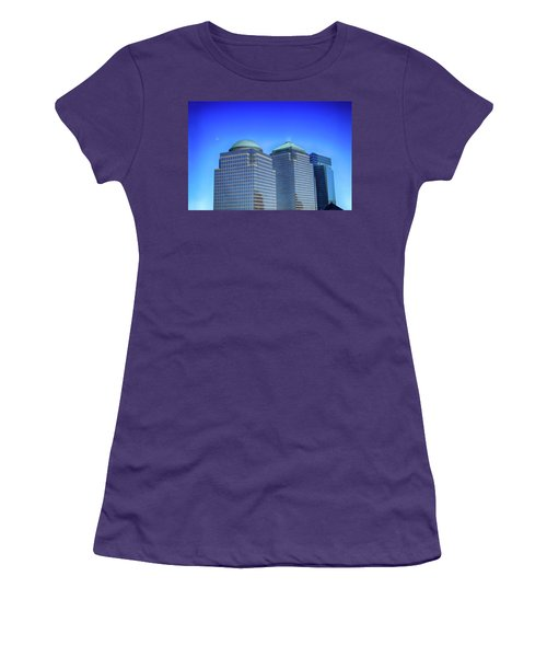 Buildings 2,3,4 In New York's Financial District Women's T-Shirt (Athletic Fit)