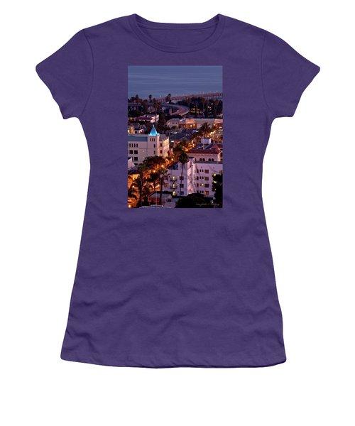 Women's T-Shirt (Junior Cut) featuring the photograph California Street At Ventura California by John A Rodriguez