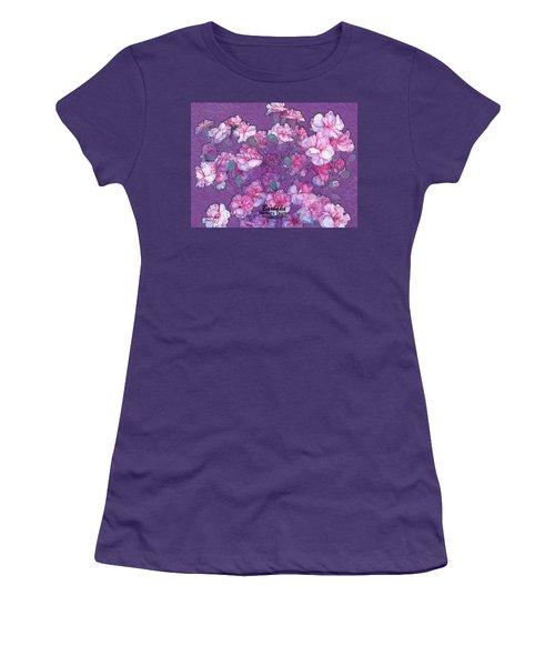 Women's T-Shirt (Junior Cut) featuring the digital art Carnation Inspired Art by Barbara Tristan
