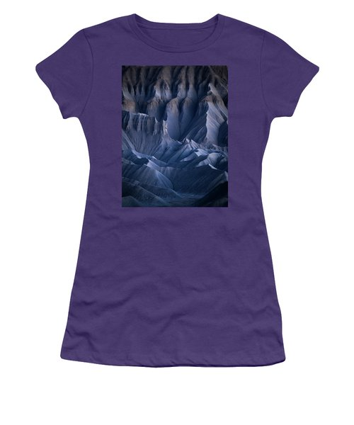 Women's T-Shirt (Athletic Fit) featuring the photograph Castle Blue by Dustin LeFevre