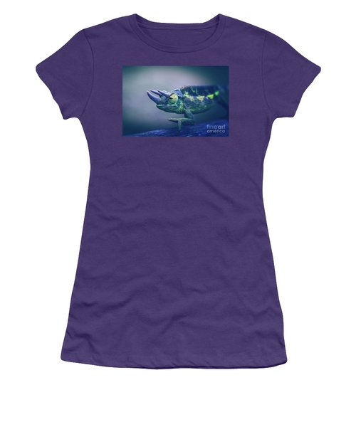 Women's T-Shirt (Junior Cut) featuring the photograph Chamaeleo Jacksonii by Sharon Mau
