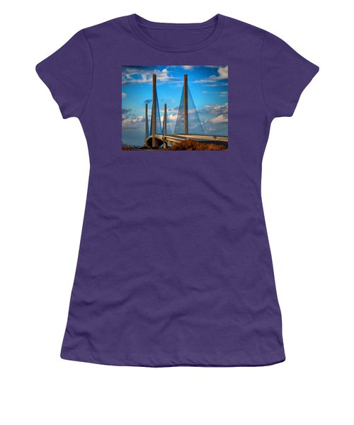 Charles W Cullen Bridge South Approach Women's T-Shirt (Athletic Fit)