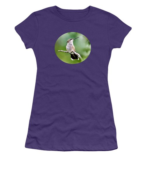 Charming Hummingbird Women's T-Shirt (Athletic Fit)