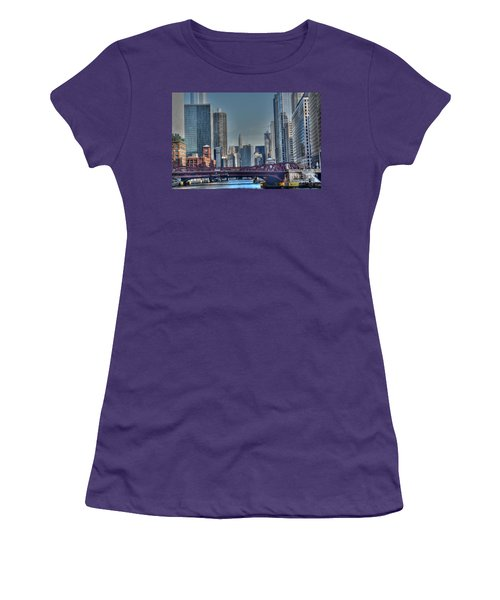 Chicago River East Women's T-Shirt (Athletic Fit)
