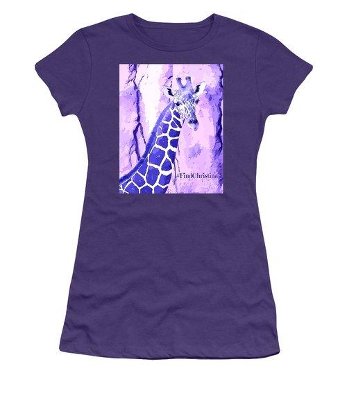 Christina's Giraffe Women's T-Shirt (Junior Cut) by Robert ONeil