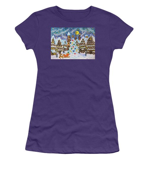 Christmas In Europe Women's T-Shirt (Athletic Fit)