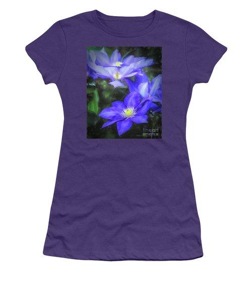 Clematis Women's T-Shirt (Junior Cut) by Linda Blair