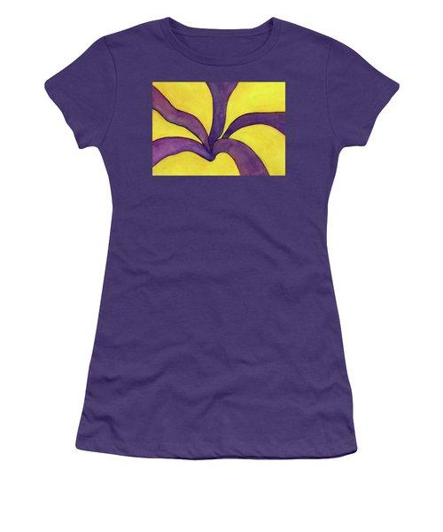 Closeup Of Yellow Rose Women's T-Shirt (Junior Cut) by Versel Reid
